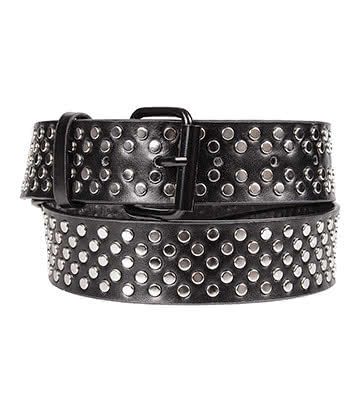 Blue Banana Small Studs Belt (Black)