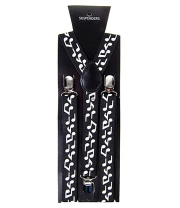 Blue Banana Music Clef Braces (Black/White)