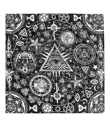 Blue Banana Occult Bandana (Black/White)