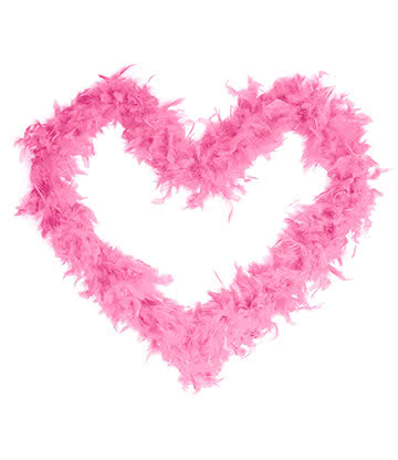 Blue Banana Feather Boa (Pink)