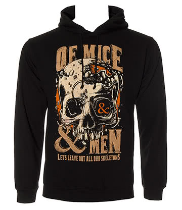Official Of Mice & Men Skeletons Hoodie (Black)