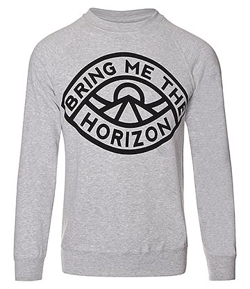 Official Bring Me The Horizon Eye Sweatshirt (Grey)
