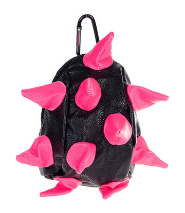 Blue Banana Spike Purse (Black/Pink)