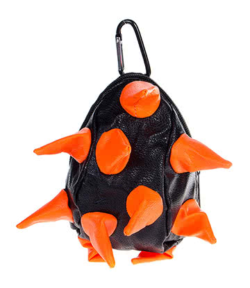 Blue Banana Spike Purse (Black/Orange)
