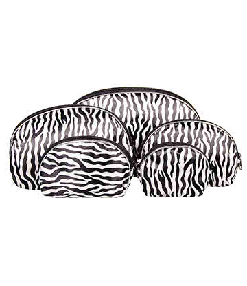 Blue Banana 5pc Make Up Bag Set (Zebra)