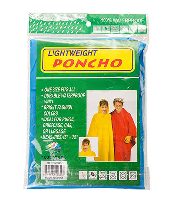 Blue Banana Lightweight Poncho (Blue)