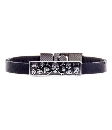Blue Banana Multi Skull Wristband (Black)