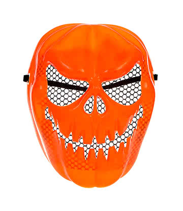 Pumpkin Face Light Up Fancy Dress Mask