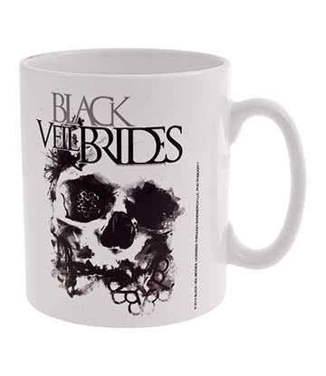 Official Black Veil Brides Skullogram Mug (White)