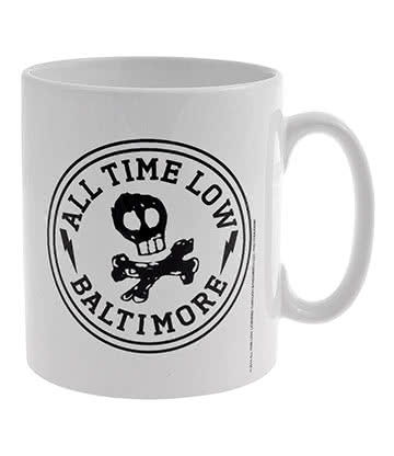 Official All Time Low Skull City Mug (White)
