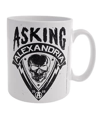 Official Asking Alexandria Skull Shield Mug (White)