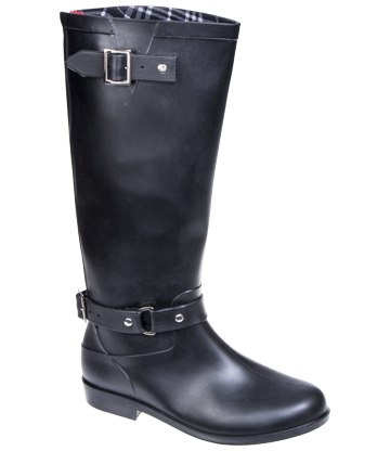 Blue Banana Zip Up Wellington Boots (Black)