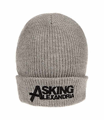 Official Asking Alexandria Logo Beanie (Grey)