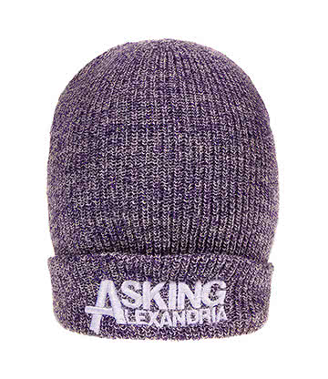 Official Asking Alexandria Logo Beanie (Purple)