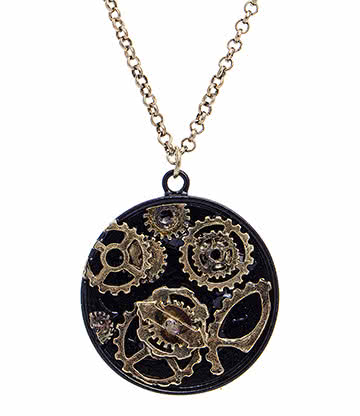 Steampunk Cogwheels Necklace (Multi)