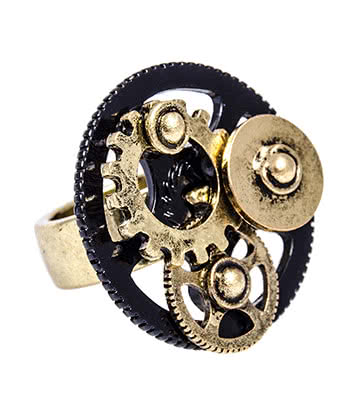 Steampunk Cogs Ring (Multi)