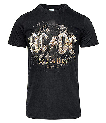 Official AC/DC Rock Or Bust T Shirt (Black)