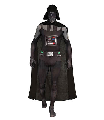 Rubies 2nd Skin Star Wars Darth Vader Jumpsuit (Black)