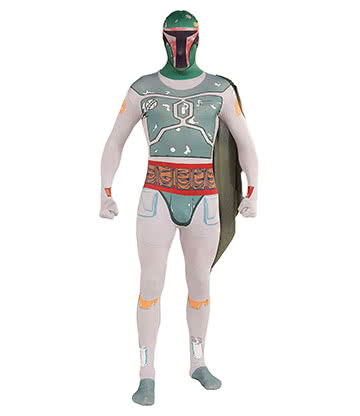 Costume Fancy Dress Boba Fett Star Wars Rubies 2nd Skin - X-Large