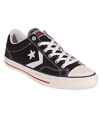 Converse Cons Star Player Shoes (Black/White)