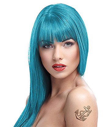 Crazy Color Semi-Permanent Hair Dye 100ml (Blue Jade)