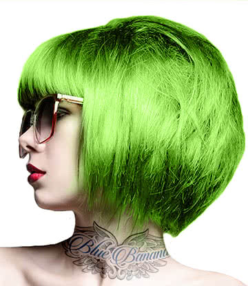 Crazy Color Semi-Permanent Hair Dye 100ml (Lime Twist)