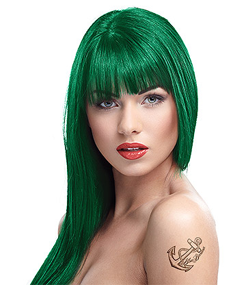 Crazy Color Semi-Permanent Hair Dye 100ml (Pine Green)