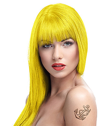 Crazy Color Semi-Permanent Hair Dye 100ml (Canary Yellow)
