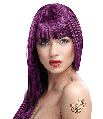 Crazy Color Semi-Permanent Hair Dye 100ml (Aubergine)