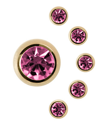 Plasma Gold 3mm Jewelled Ball (Rose)