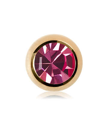 Blue Banana Plasma Gold 3mm Jewelled Ball (Rose)
