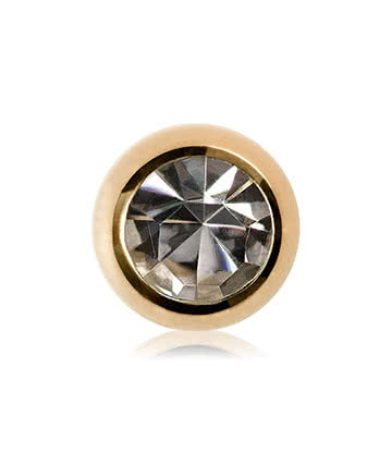 Plasma Gold 3mm Jewelled Ball (Crystal)