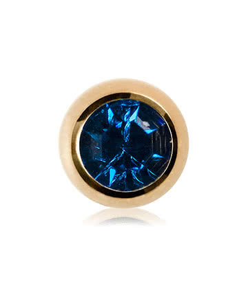Blue Banana Plasma Gold 3mm Jewelled Ball (Capri)