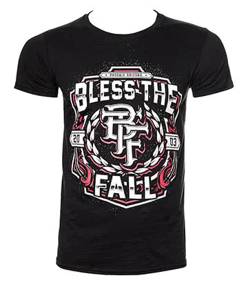 Official Blessthefall Crest T Shirt (Black)