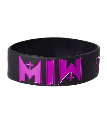 Official Motionless In White Logo Wristband (Black/Purple)