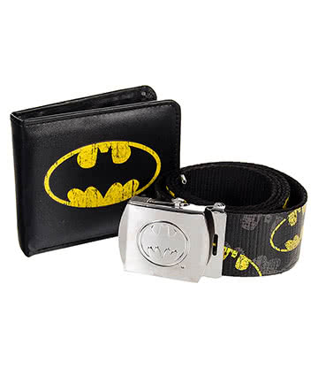 DC Comics Batman Belt & Wallet Gift Set (Black)