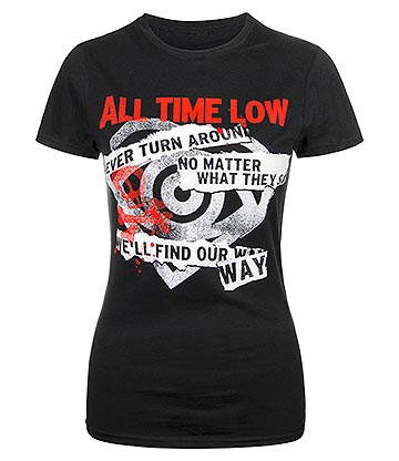 All Time Low Find Our Way Skinny T Shirt Femme (Noir)