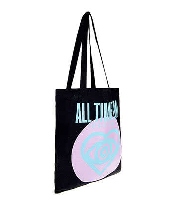 Official All Time Low Future Hearts Tote Bag (Black/Pink)