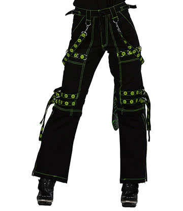 Dead Threads Women's Trousers (Black/Green)