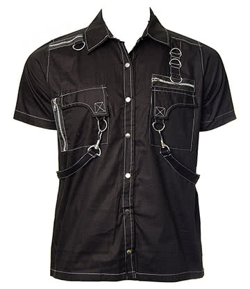 Dead Threads Short Sleeved Shirt (Black/Grey)