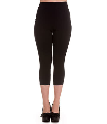 Hell Bunny Tina Capri Pants (Black)