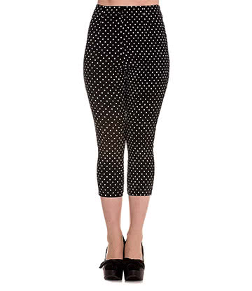 Hell Bunny Kay Capri Pants (Black/White)
